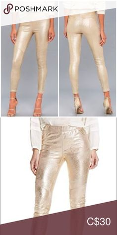 Shop Women's Free People Gold size 29 Skinny at a discounted price at Poshmark. Description: Super soft vegan leather tights - size Sold by johannapady. Leather Tights, Vegan Leather, Ballet Shoes, Free People, Pants For Women, Skinny, Gold, Closet, Things To Sell