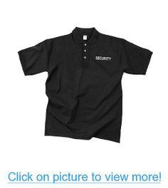 Rothco Mens Black Moisture Wicking Security Golf Shirt