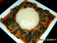 My favorite dish. Egusi Soup!