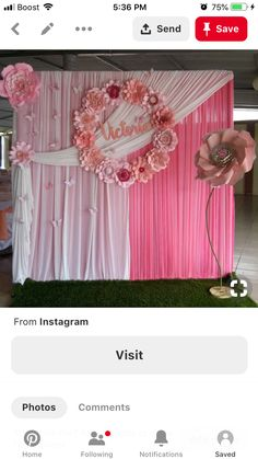 Decoration Evenementielle, Backdrop Decorations, Birthday Party Decorations, Baby Shower Decorations, Wedding Decorations, Paper Flower Centerpieces, Paper Flowers Diy, Flower Arrangements, Diy Wedding Backdrop