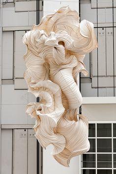 ₪ Paper Art Potpourri ₪ Ornamental Paper Sculpture by Peter Gentenaar Abstract Sculpture, Sculpture Art, Abstract Art, Paper Sculptures, Architecture Origami, Instalation Art, Paper Artwork, Art Original, Land Art