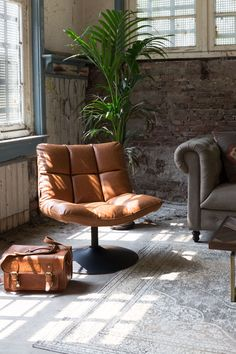 The most comfortable seating area in the world with the Dutchbone Faux Leather Lounge Bar Lounge Chair, for an eclectic deco-style living room, vintag Bar Lounge, Chill Lounge, Design Lounge, Living Room Chairs, Dining Chairs, Side Chairs, Lounge Chairs, Beach Chairs, Office Chairs