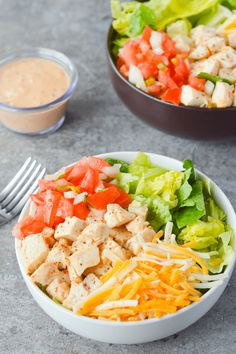 The Southwest Chicken Salad is one of my all time favorites. It's crisp, refreshing, and has just the right amount of kick.