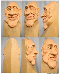 Learn Caricature Carving | The photos are large so you may see as muchdetail as possible, and may ...