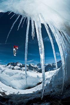 Actually successfully do snowboard jumps ha
