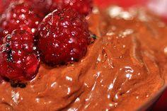 Receita Dedo de Moça: Mousse de chocolate com framboesa
