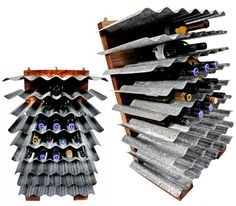 DIY wine rack-so simple and so modern