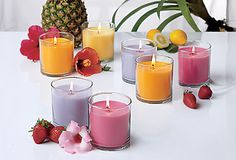 Escential Jar Summer Scents -  Our new jar candle is more richly scented for 40-60 hours of wonderful, specialty fragrance. Enjoy in all PartyLite® fragrances including our new summer scents: Coconut Colada, Geranium Citronella™, Mangotini, and Tropical Daiquiri.