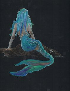 Colored Pencil Mermaid Picture by wOzOnArt on Etsy, $60.00