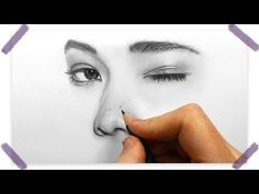 Drawing, shading and blending a minimalistic face with graphite pencils - YouTube