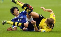 Atsuto Uchida and Marco Reus Union Berlin, National Football Teams, Running, Sports, Marco Reus, Bavaria, Hs Sports, Keep Running, Why I Run