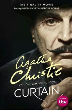 Curtain: Poirot's Last Case by Agatha Christie.my goodness, I cried last Saturday night when I watched this. Truly sad to see the end of David Suchet's reign as Hercule Poirot. Helen Baxendale, Agatha Christie's Poirot, Hercule Poirot, Murder Mysteries, Cozy Mysteries, Detective, David Suchet, Miss Marple, Cinema