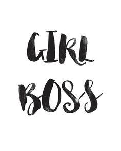 Girl Boss  Digital Download Printable  Textured by VenaDiAmore