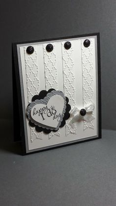Stamp With Me Cindy G -  Word Play, Fancy Fan Embossing Folder from Stampin Up are featured on this Wedding card.