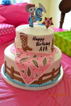 Sheriff Callie Cowgirl birthday cake