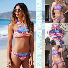 "Bohemian padded brazilian crop top bikini XS/S Bohemian summer bikini Padding inserts for enhanced physique Brazilian cut bottom  Durable stretch for perfect fit New & never worn ☀️✌️ Size XS/S About 13 & 1/2"" across bust (laying flat) About 12"" across rib cage About 11 & 1/2"" length from shoulder About 12 & 1/2"" across waist About 8"" rise  ☀️No Trades☀️ Bikini Demon Swim Bikinis"