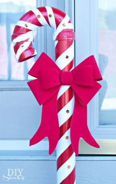 of the Best DIY Christmas Decorations DIY PVC Candy Cane….these are the BEST Homemade Christmas Decorations & Craft Ideas! Diy Christmas Yard Decorations, Diy Christmas Lights, Pallet Christmas, Christmas Projects, Simple Christmas, Holiday Crafts, Christmas Holidays, Christmas Ideas, Magical Christmas