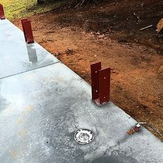 Wood To Concrete Forever post column Pole Barn Shop, Pole Barn Garage, Pole Barn Homes, Pole Barns, Backyard Pergola, Patio Roof, Pergola Ideas, Pole Barn Designs, Concrete Posts