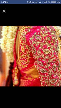 Bridal Blouse Designs for Silk Sarees & Pattu Sarees in Are you looking for bridal blouse designs for pattu sarees? Here is the photo collection of silk saree blouse designs designs available read more. Wedding Saree Blouse Designs, Pattu Saree Blouse Designs, Designer Blouse Patterns, Fancy Blouse Designs, South Indian Blouse Designs, Designer Dresses, Blouse Back Neck Designs, Hand Work Blouse Design, Blouse Neck