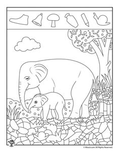 Animals 457608012133916290 - Elephant Easy Hidden Pictures Printable Source by Animal Activities For Kids, Fun Activities, Activity Pages For Kids Free Printables, Hidden Pictures Printables, Printable Pictures, Animal Pictures For Kids, Easy Pictures, Elephant Pictures, Highlights Hidden Pictures