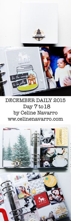 Catching up on my December Daily, friends! I've been loving this project more than the previous year, because of our beloved Salomé! OK, it turns out to look more like a festive Baby Book but still, it's my December Daily and it's unique! I'm planning to work on a Baby Book using the Clara kit from Studio Calico next month, along with Project Life. Don't know how I am going to manage them all but thinking about how to organize for them two. #decemberdaily
