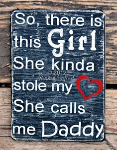 """There's This Girl, (Small, 7""""x10"""") Weathered Wood Wall Art"""