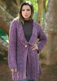 Fio Círculo Mimoso Crochet Coat, Crochet Jacket, Yarn Inspiration, Karen Millen, Crochet Projects, Ideias Fashion, Knitting, Womens Fashion, Jackets