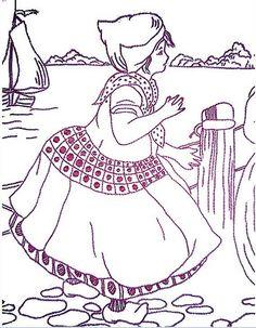 https://flic.kr/p/7iBR2c   redwork embroidery 5 dutch girl