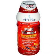 Wellesse Premium Liquid Supplements, Multi Vitamin+, Sugar Free, Natural Citrus Flavor, 16 Fl Oz (480 Ml), Diet Suplements 蛇