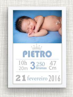 QUADRO DE MATERNIDADE NASCIMENTO Baby Announcement Cards, Baby Frame, Baby Clip Art, Foto Baby, Baby List, Baby Bedroom, Photo Craft, Baby Design, Baby Decor