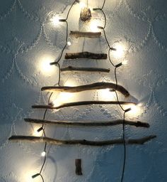eco Friendly Wall Hanging Driftwood Christmas Tree  Approx Size 49cms x 46cms F1