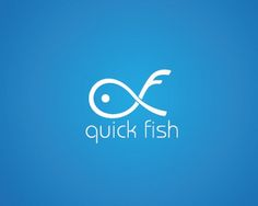 typographic logo design (20) quick fish #typography #logo #design