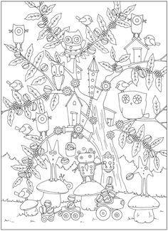 Creative Haven Coloring Book Unique Creative Haven Curious Creatures Coloring Book Dover Publications Motif Colouring Pics, Doodle Coloring, Coloring Book Pages, Coloring For Kids, Printable Coloring Pages, Free Coloring, Coloring Sheets, Creative Haven Coloring Books, Curious Creatures