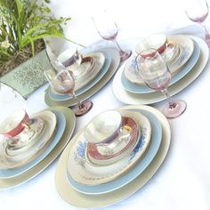 Mismatched Table Place Setting for 4 Shabby Chic by DesignWise4U, $185.00