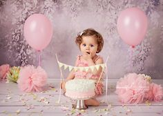 It is a fantastic way to celebrate birthday. Beautiful Moments, Cake Smash, Projects To Try, Flower Girl Dresses, Wedding Dresses, Birthday, Photography, Cake Ideas, Bride Dresses