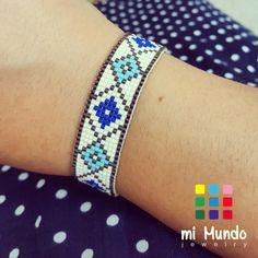 Handmade miyuki bracelet by Mi Mundo Jewelry