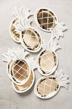 Gold Pineapple Party Plates