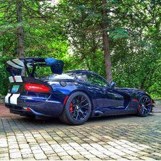 2015 Dodge Viper ACR - GTSR Blue/white #dodgeviper #dodgeviperblue