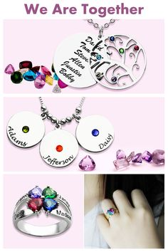 A Happy Family!  Check More Custom Family Jewelry For Mom at GETNAMENECKLACE.COM