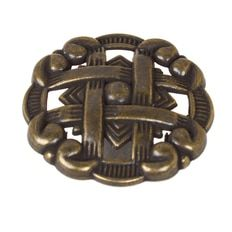 1-3/8-Inch Celtic Medallion Cabinet Hardware Knob - Antique Brass (Available in packs of 10, 50 or 100)