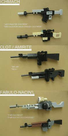 weapons upscale by Lemon_Boy, via Flickr Lego Mecha, Bionicle Lego, Robot Lego, Legos, Avion Lego, Lego Burg, Instructions Lego, Micro Lego, Lego Army