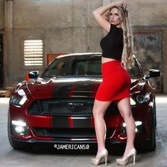 Car Girls, Pin Up Girls, Mustang Girl, Ford Mustang, Super Sport Cars, Muscle Girls, Car Ford, Sexy Jeans, Hot Cars