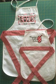 Mother's Day Aprons Embroidery Article