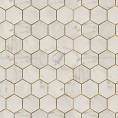 Texture Seamless Hexagonal Cream Marble Tile Texture Seamless 14259