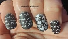 """Above the Curve """"Sirius Black"""" stamped with MoYou Princess 11 and a matte top coat"""