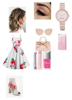 """women"" by mawena-17 ❤ liked on Polyvore featuring Diva Lounge, Mansur Gavriel, Topshop, Nine West and Christian Dior"