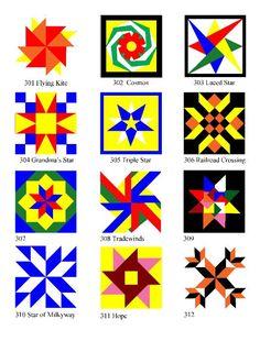 Barn Quilt Block Patterns