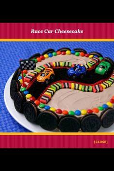 Raceway racing cars cake
