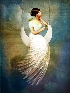 Icanvas To The Moon & Back By Catrin Welz-Stein Giclée Print.- Icanvas To The Moon & Back By Catrin Welz-Stein Giclée Print Canvas Art, Size – Green iCanvas To the Moon & Back by Catrin Welz-Stein Giclee Print Canvas Art - Image Nature Fleurs, Wall Art Prints, Canvas Prints, Images Vintage, Back Art, Moon Art, Canvas Artwork, Surreal Art, Fantasy Art
