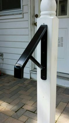 Best 1 To 2 Step Wrought Iron Grab Rail Stair Railing By 400 x 300